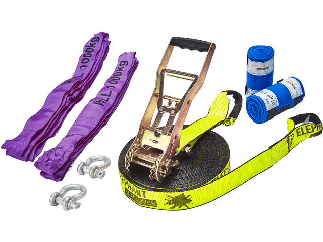 Elephant Slacklines Freak Flash'line Set 25 m, neon